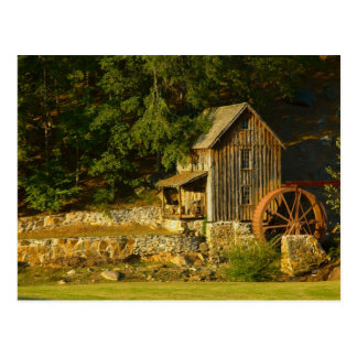 Old Grist Mill in GA Postcard