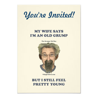 Old Grump Wife Says 5x7 Paper Invitation Card