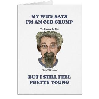 Old Grump Wife Says Card
