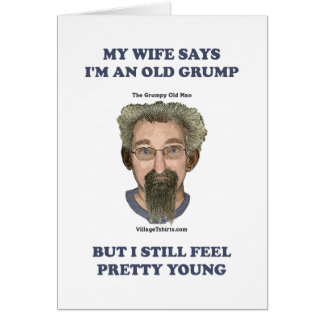 Old Grump Wife Says Stationery Note Card