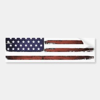 Old Grunge American flag Bumper Sticker