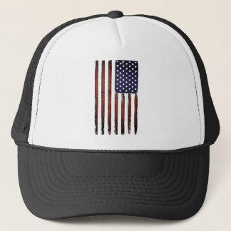 Old Grunge American flag Trucker Hat