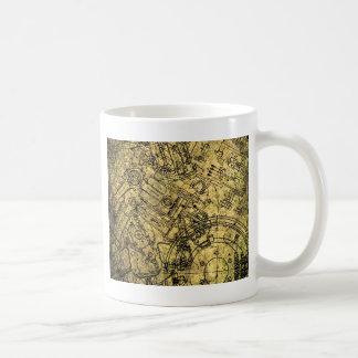 Old Grunge Blueprint Coffee Mug