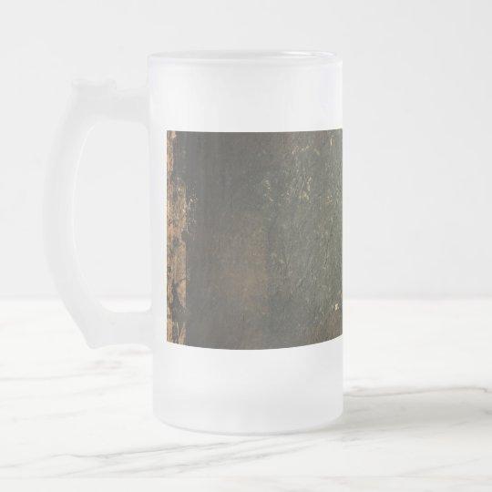 Old Grunge Paper Frosted Glass Beer Mug