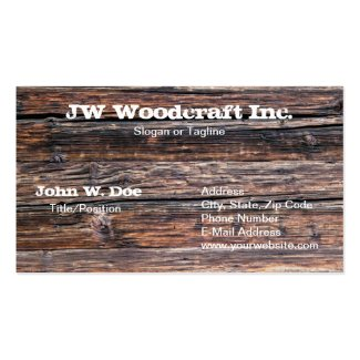 Old Grunge Wood Texture Business Card