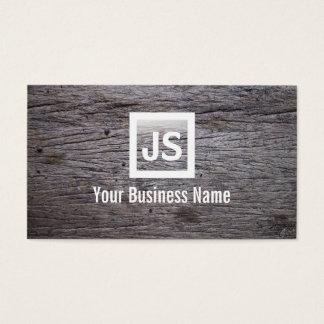 Old Grunge Wood Texture Modern Business Card