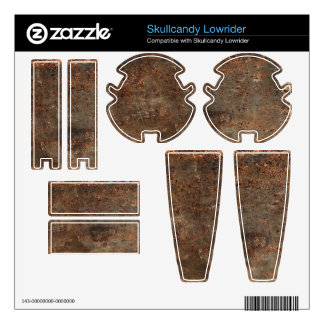 Old Grungy Leather Print Skullcandy Skins