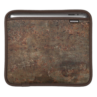 Old Grungy Leather Print Sleeve For iPads