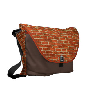 Old Grungy Red Orange Brick Wall Facade Structure Courier Bag