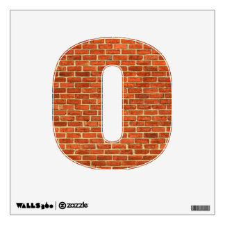 Old Grungy Red Orange Brick Wall Facade Structure Wall Decals