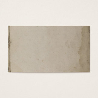 Old Grungy Stained Kraft Paper Business Card