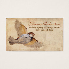 Old Grungy Vintage Bird Business Card at Zazzle