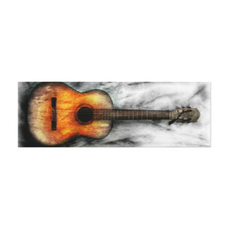 Old guitar artwork painting canvas print