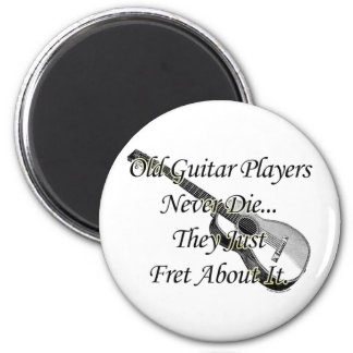 Old Guitar Players 2 Inch Round Magnet