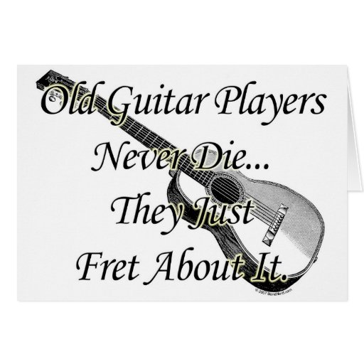 Old Guitar Players Card