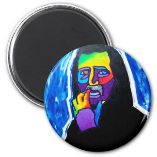 Old Guy by Piliero 2 Inch Round Magnet
