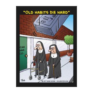 """""""Old Habits Die Hard"""" Canvas Prints"""