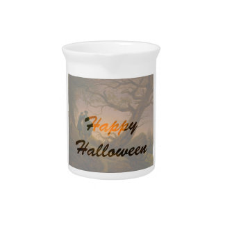 Old Halloween Beverage Pitcher
