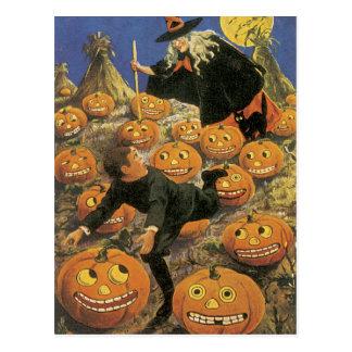 OLD Halloween Postcard, Retro Witchery Postcard