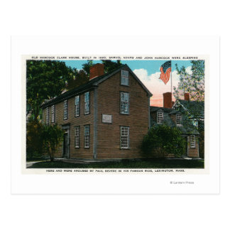Old Hancock Clark House View # 3 Postcard