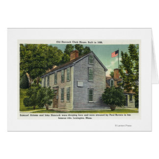 Old Hancock Clark House View, Paul Revere Rode B Card