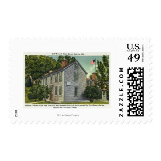 Old Hancock Clark House View, Paul Revere Rode B Postage Stamp