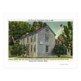 Old Hancock Clark House View, Paul Revere Rode B Postcard