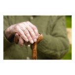 old hands of a on seniores lean walking bordas  papeleria