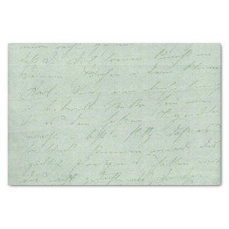 "Old handwriting love letters faded antique script 10"" x 15"" tissue paper"