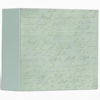 Old handwriting love letters faded antique script vinyl binder