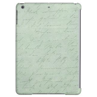 Old handwriting love letters faded antique script cover for iPad air
