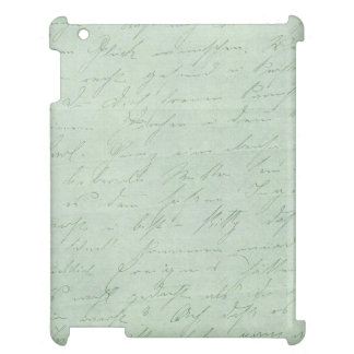 Old handwriting love letters faded antique script iPad cases