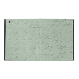 Old handwriting love letters faded antique script iPad folio case