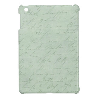 Old handwriting love letters faded antique script iPad mini case
