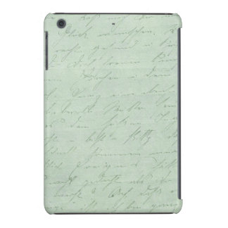 Old handwriting love letters faded antique script iPad mini cases