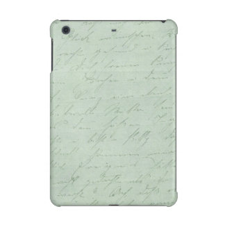 Old handwriting love letters faded antique script iPad mini retina covers