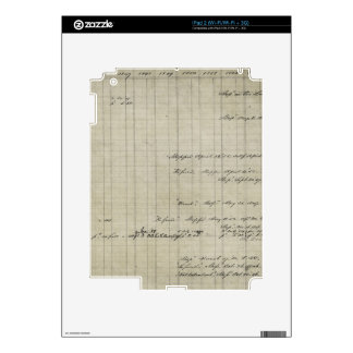old handwritten ledger decal for the iPad 2