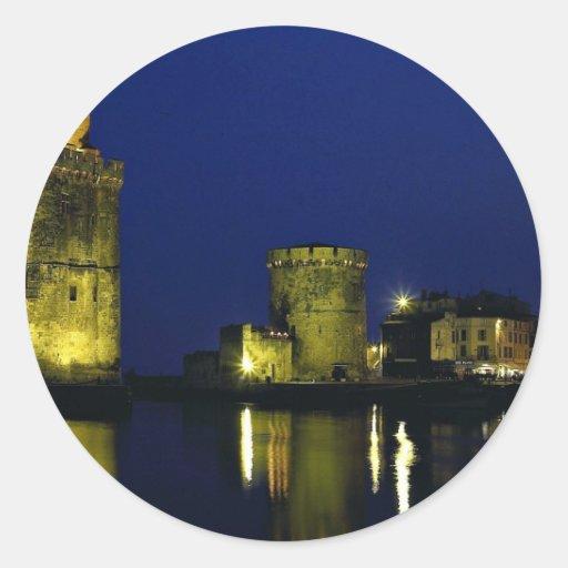 Old harbor, La Rochelle, France Stickers