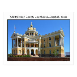 Old Harrison County Courthouse, Marshall, Texas Postcard