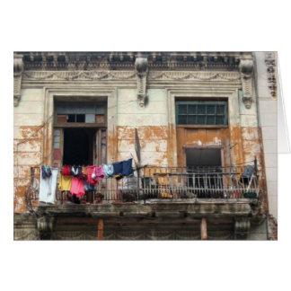 old havana balcony card
