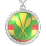Old Hawaiian Flag With Bubble Necklace
