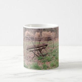 Old hay rake 3 coffee mug