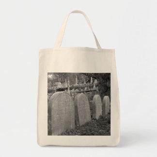 old headstones canvas bag