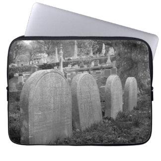 old headstones computer sleeve