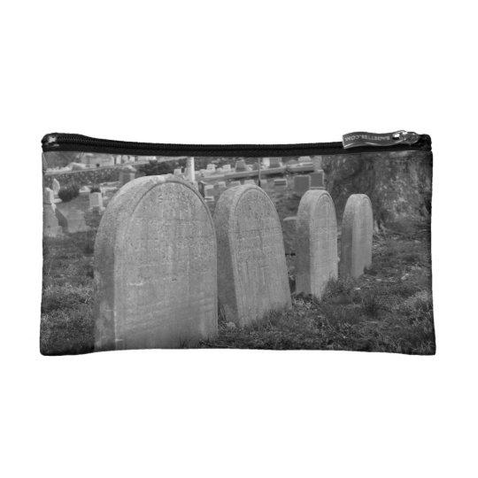 old headstones cosmetic bag