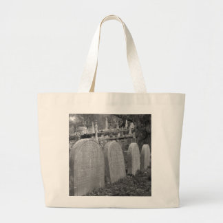 old headstones large tote bag