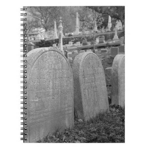 old headstones notebook