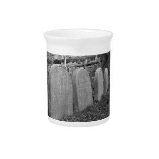 old headstones beverage pitchers