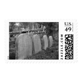 old headstones postage stamps