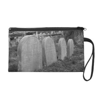old headstones wristlet purse